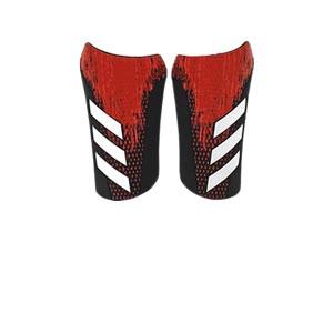 adidas Predator Competition - Espinilleras de fútbol adidas con mallas de sujeción - negras y rojas - frontal