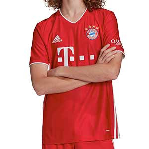 Camiseta adidas Bayern 2020 2021 - Camiseta adidas primera equipación Bayern de Munich 2020 2021 - roja - frontal