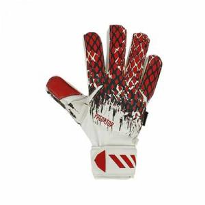 adidas Predator FingerSave J Manuel Neuer - Guantes de portero con protecciones para niño adidas de Manuel Neuer - blancos y rojos - frontal derecho