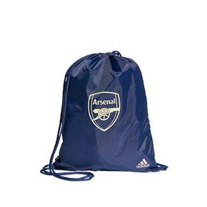 Gymbag adidas Arsenal - Mochila de cuerdas adidas del Arsenal FC 2020 2021 - azul marino - frontal