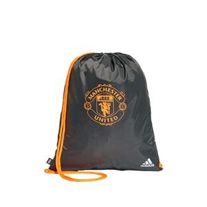 Gymbag adidas United - Mochila de cuerdas adidas del Manchester United 2020 2021 - verde oscuro - frontal