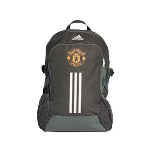 Mochila adidas United - Mochila de deporte adidas del Manchester United FC 2020 2021 - verde oscuro - frontal
