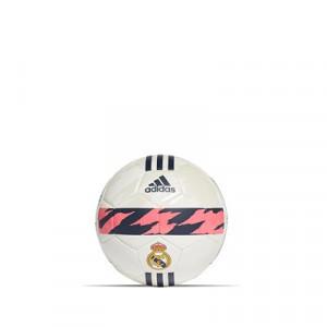 Balón adidas Real Madrid mini talla 1 - Minibalón de fútbol adidas Real Madrid talla 1- blanco y azul marino - frontal