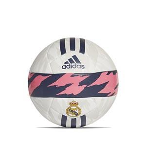 Balón adidas Real Madrid Club talla 5 - Balón de fútbol adidas Club del Real Madrid de talla 5 - blanco y azul marino - miniatura