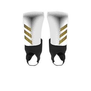 adidas Predator Match - Espinilleras de fútbol adidas con tobillera protectora - blancas y negras - frontal