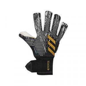 adidas Predator Pro Ultimate - Guantes de portero profesionales con protecciones extraíbles adidas - negros y dorados - frontal derecho