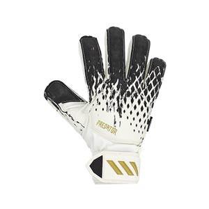 adidas Predator Match FingerSave J - Guantes de portero con protecciones para niño adidas corte positivo - blancos y negros - frontal derecho