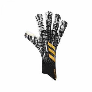 adidas Predator Pro FingerSave - Guantes de portero profesionales con protecciones adidas - negros y blancos - frontal derecho