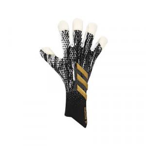 adidas Predator Pro Hybrid - Guantes de portero profesionales adidas corte negativo - negros y dorados - frontal derecho