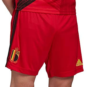 Short adidas Bélgica 2020 2021 - Pantalón corto primera equipación selección belga 2020 2021 - rojo - frontal