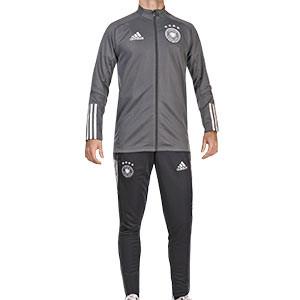Chándal adidas Alemania entreno 2019 2020 - Conjunto de chándal adidas de entrenamiento de la selección alemana 2019 2020 - gris y negro - frontal