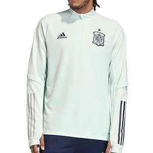 Sudadera adidas España entreno 2020 2021 - Sudadera entrenamiento selección española 2020 2021 - verde menta - frontal