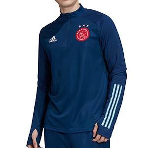 Sudadera adidas Ajax entreno 2020 2021 - Sudadera de entrenamiento adidas del Ajax 2020 2021 - azul marino - frontal