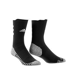 Calcetines adidas Alphaskin Traxion ultra finos - Calcetines de entrenamiento adidas media caña con tecnología antideslizante - negros - frontal