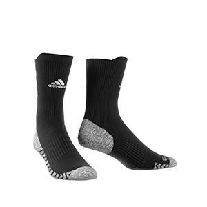 Calcetines adidas Alphaskin Traxion semi acolchados - Calcetines de entrenamiento adidas media caña con tecnología antideslizante - negros - frontal