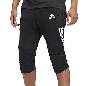 Pantalón portero adidas Tierro GK - Pantalón pirata acolchado de portero adidas - negro - frontal