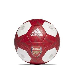 Balón adidas Arsenal Club talla 5 - Balón de fútbol adidas Club del Arsenal de talla 5 - rojo y blanco - frontal