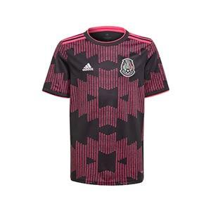 Camiseta adidas México niño 2021 - Camiseta infantil primera equipación adidas selección mexicana 2021 - negra - frontal