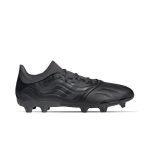 adidas Copa SENSE.3 FG - Botas de fútbol de piel adidas FG para césped natural o artificial de última generación - negras - pie derecho