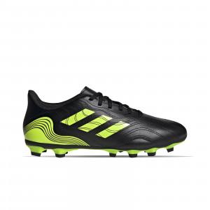 adidas Copa SENSE.4 FxG - Botas de fútbol adidas FxG para múltiples terrenos - negras y amarillas flúor - pie derecho