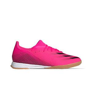 adidas X GHOSTED.3 IN - Zapatillas de fútbol sala adidas suela lisa IN - rosas - pie derecho