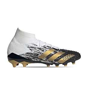 adidas Predator Mutator 20.1 AG - Botas de fútbol adidas con tobillera AG para césped artificial - blancas y negras - pie derecho