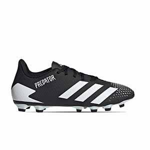 adidas Predator 20.4 FxG - Botas de fútbol adidas FxG para multiples terrenos - blancas y negras - pie derecho