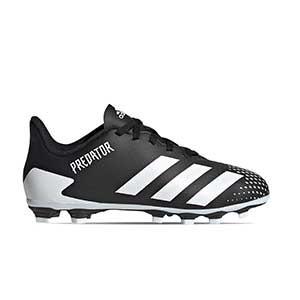 adidas Predator 20.4 FxG J - Botas de fútbol infantiles adidas FxG para multiples terrenos - blancas y negras - pie derecho