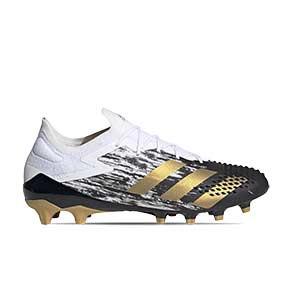adidas Predator Mutator 20.1 Low AG - Botas de fútbol adidas AG para césped artificial - blancas y negras - pie derecho