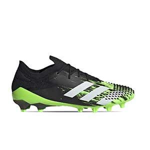 adidas Predator Mutator 20.1 Low AG - Botas de fútbol adidas AG para césped artificial - verde lima y negras - pie derecho