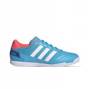 adidas Super Sala - Zapatillas de fútbol sala adidas suela lisa - azul celeste - frontal