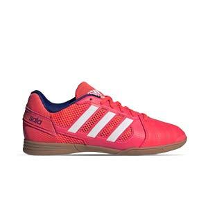 adidas Top Sala J - Zapatillas de fútbol sala infantiles adidas suela lisa - rojas - pie derecho