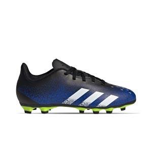 adidas Predator FREAK .4 FxG J - Botas de fútbol infantiles adidas FxG para multiples terrenos - azul marino y amarillas - pie derecho