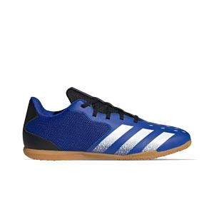 adidas Predator FREAK .4 IN Sala - Zapatillas de fútbol sala adidas suela lisa IN - azul marino y amarillas - pie derecho