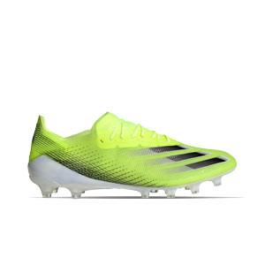 adidas X GHOSTED.1 AG - Botas de fútbol adidas AG para césped artificial - amarillas flúor - pie derecho