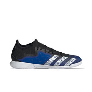 adidas Predator FREAK .3 Low IN - Zapatillas de fútbol sala adidas suela lisa IN - azul marino y amarillas - pie derecho