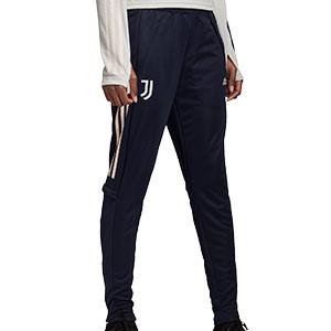 Pantalón adidas Juventus entreno mujer 2020 2021 - Pantalón largo de entrenamiento de mujer de la Juventus 2020 2021 - azul marino - frontal