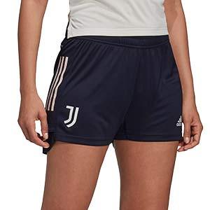 Short adidas Juventus entreno mujer 2020 2021 - Pantalón corto de entrenamiento de mujer de la Juventus 2020 2021 - azul marino - frontal