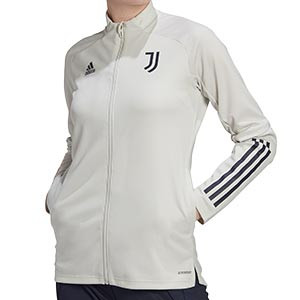Chaqueta adidas Juventus entreno mujer 2020 2021 - Chaqueta entrenamiento mujer Juventus 2020 2021 - gris - frontal