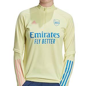 Sudadera adidas Arsenal mujer entreno 2020 2021 - Sudadera de entrenamiento de mujer del Arsenal 2020 2021 - amarilla - frontal