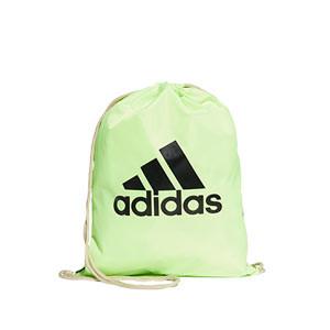 Gymbag adidas - Mochila de cuerdas adidas - verde flúor - frontal