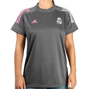 Camiseta adidas Real Madrid mujer entreno 2020 2021 - Camiseta de entrenamiento de mujer adidas del Real Madrid 2020 2021 - gris - frontal