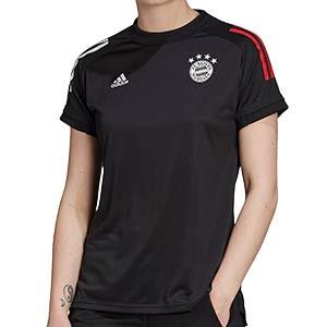 Camiseta adidas Bayern entreno mujer 2020 2021 - Camiseta de entrenamiento de mujer del Bayern de Munich 2020 2021 - negra - frontal