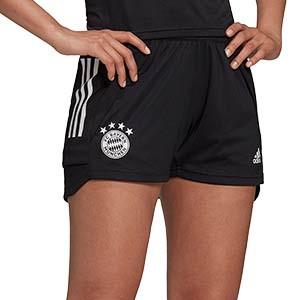Short adidas Bayern entreno mujer 2020 2021 - Pantalón corto de entrenamiento de mujer del Bayern Munich 2020 2021 - negro - frontal