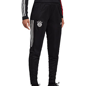 Pantalón adidas Bayern mujer entreno 2020 2021 - Pantalón largo de entrenamiento de mujer del Bayern de Munich 2020 2021 - negro - frontal