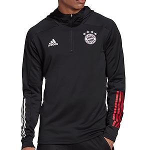 Sudadera adidas Bayern Hoody - Sudadera con capucha de paseo del Bayern de Munich 2020 2021 - negra - miniatura
