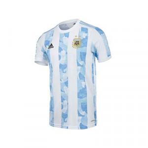 Camiseta adidas Argentina niño 2021 - Camiseta infantil primera equipación adidas de la selección de Argentina 2021 - blanca y azul celeste - frontal