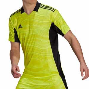 Camiseta adidas Condivo GK 21 - Camiseta de portero de manga corta adidas - amarilla flúor - frontal