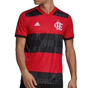 Camiseta adidas Flamengo 2021 2022 - Camiseta primera equipación adidas del CR Flamengo 2021 2022 - roja y negra - frontal