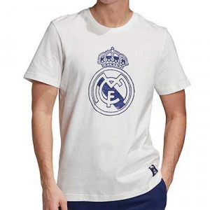 Camiseta algodón adidas Real Madrid DNA Graphic - Camiseta de algodón adidas del Real Madrid 2020 2021 - blanca - frontal
